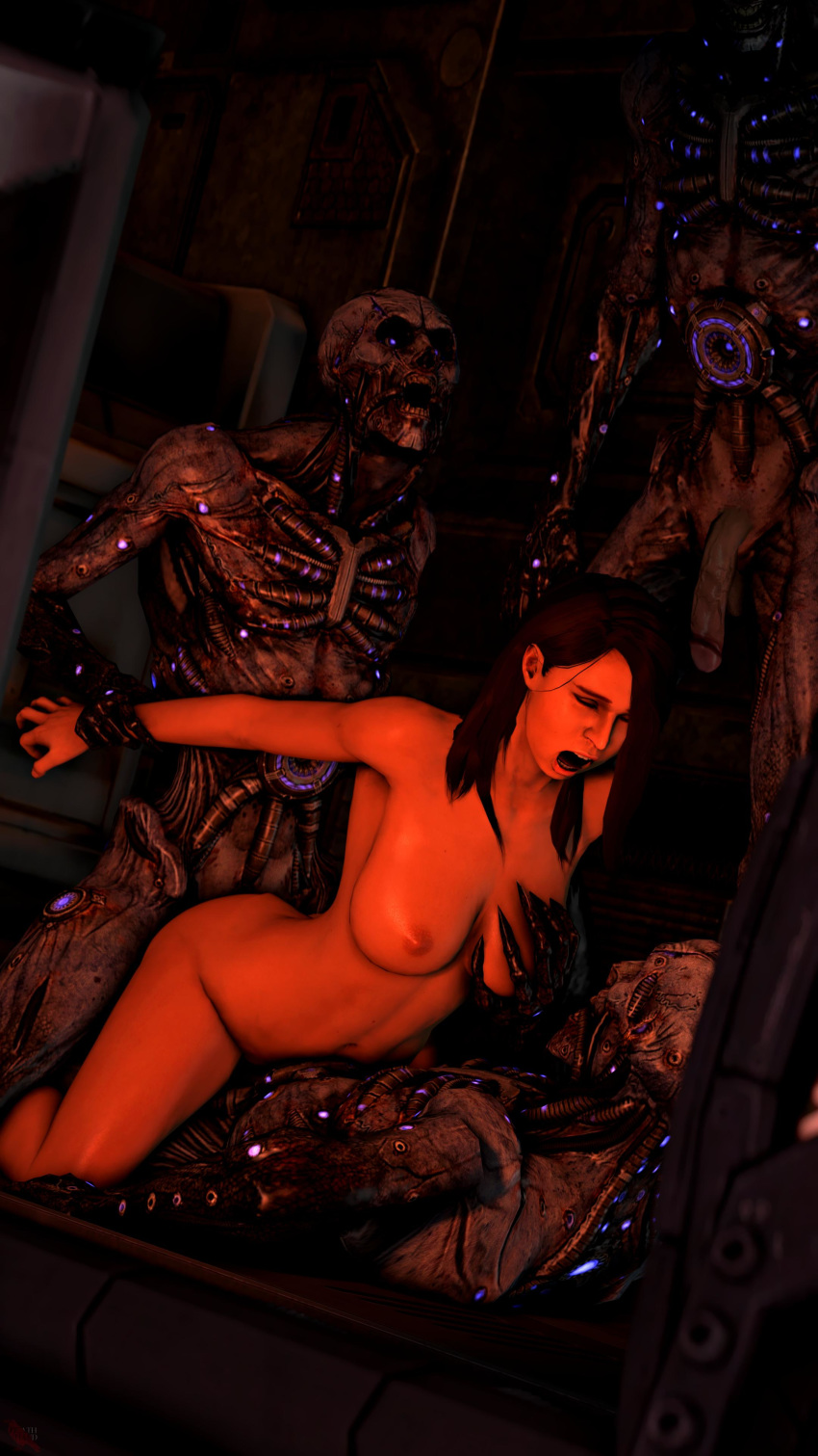 hentai mass effect Naked girls in thigh highs
